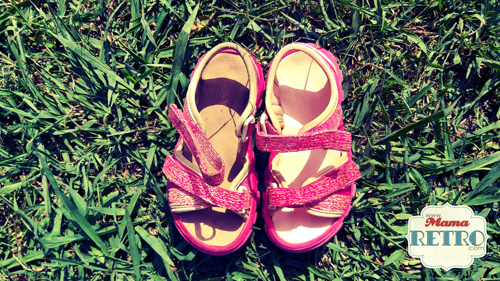 La diferència entre la sabata tractada i la no tractada. mamaretro.com