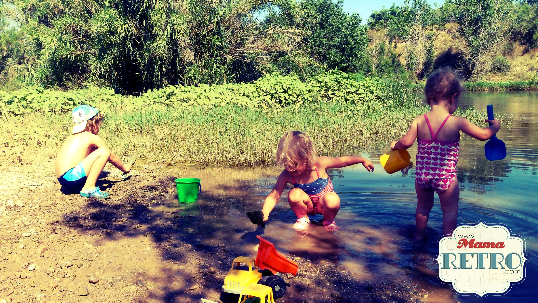 excursiones y baños son necesarios en un verano con niños