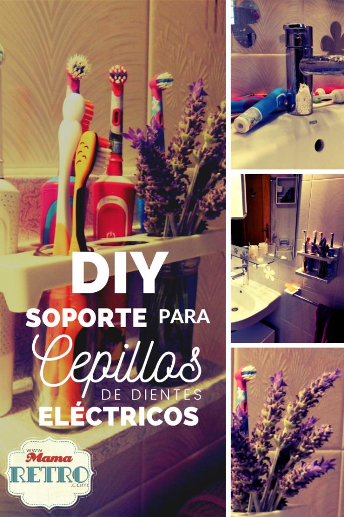 Soporte para cepillos de dientes eléctricos. DIY