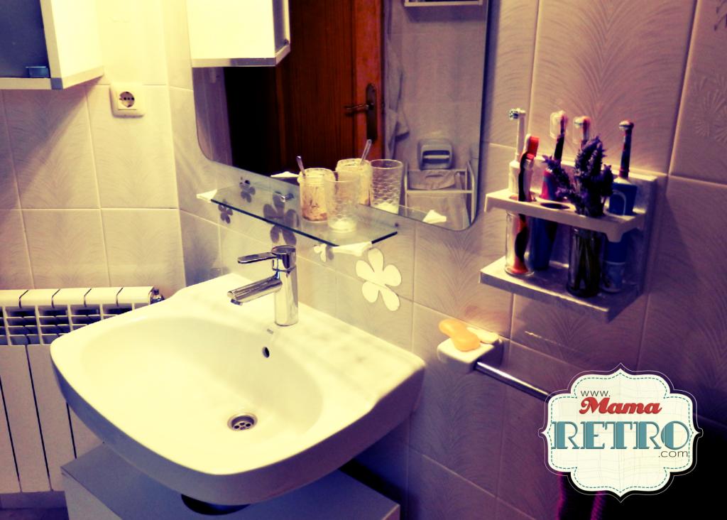 Nuestro baño con soporte DIY de cepillos eléctricos