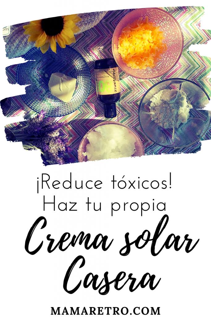 Haz tu propia crema solar casera. No más tóxicos.