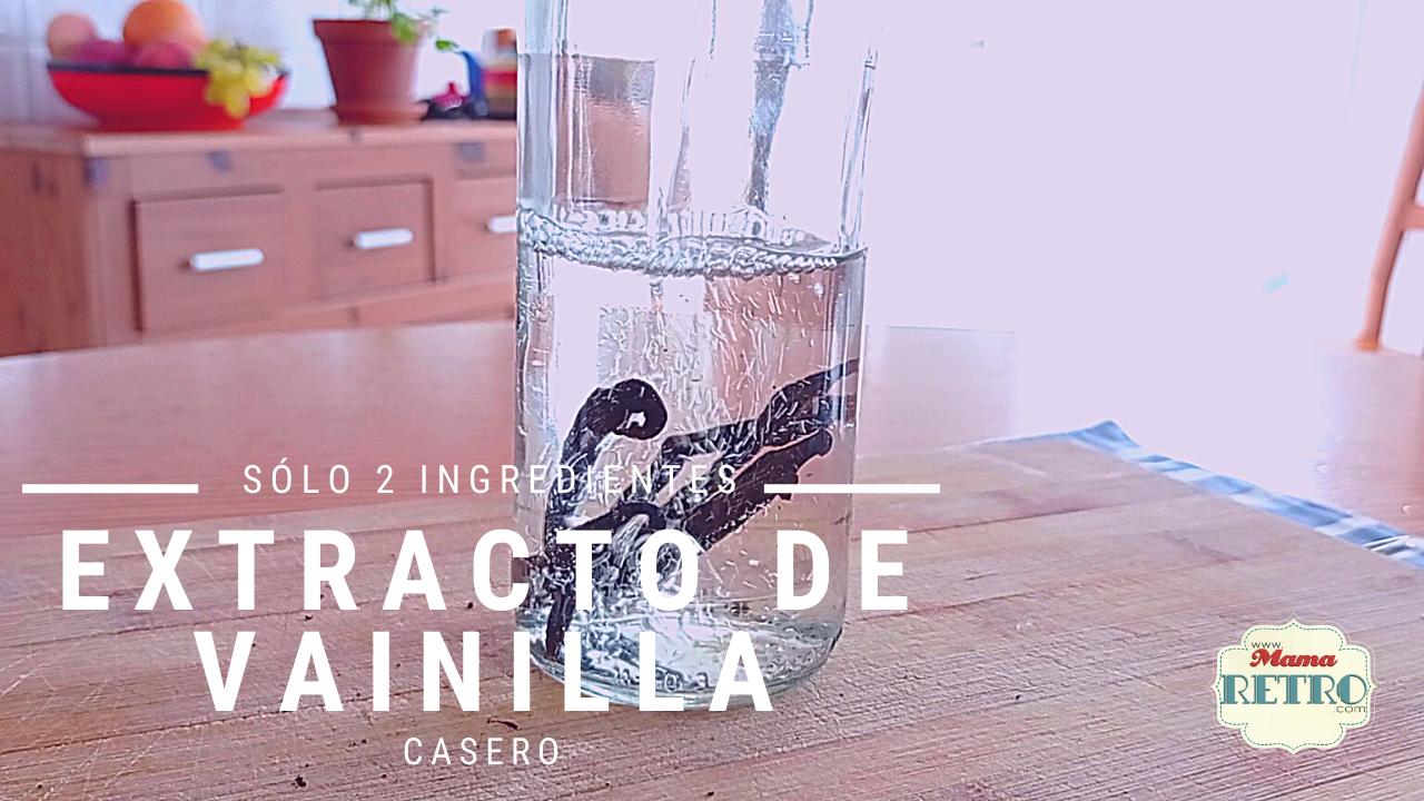 extracto de vainilla con solo 2 ingredientes