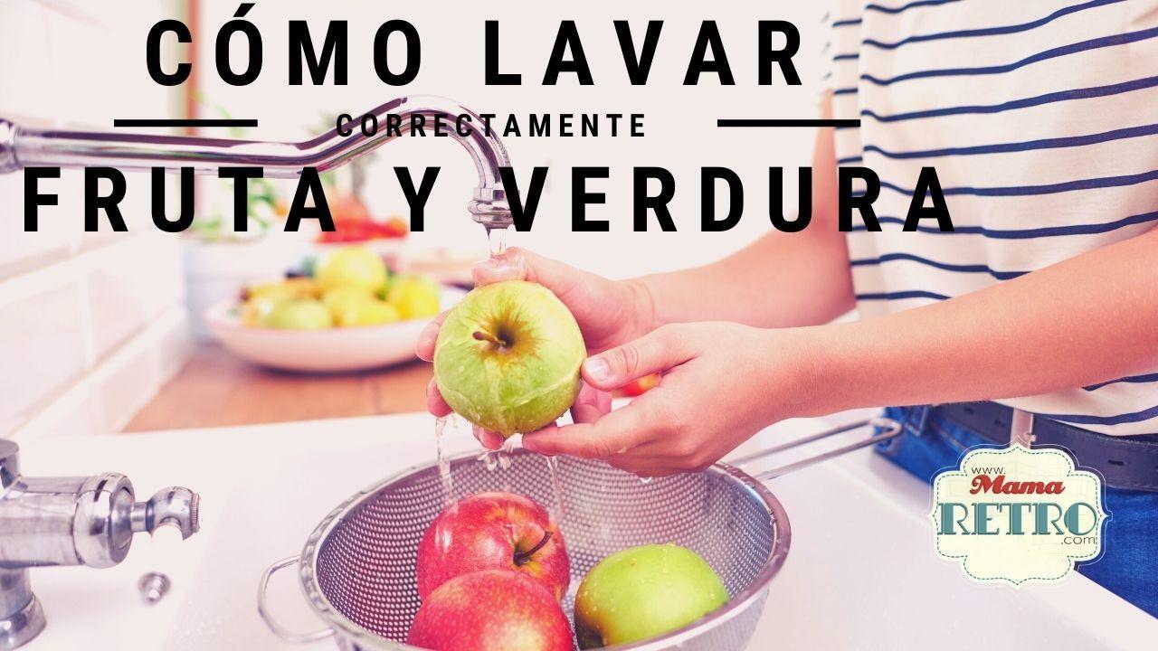 Lavar fruta y verdura de forma correcta