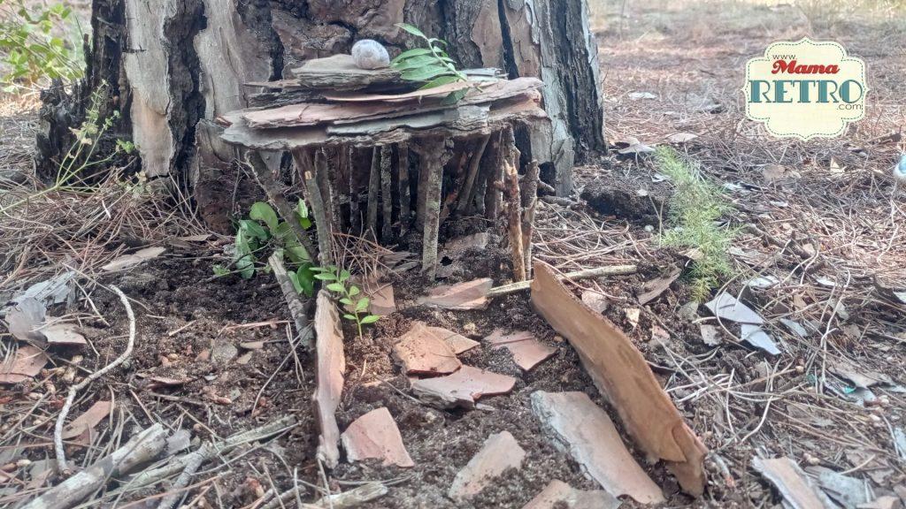 Una casita de hadas para hacer en el bosque con los niños